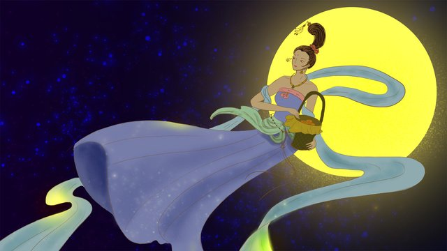 beautiful dreams chinese traditional festivals mid autumn festival rushing to the moon llustration image
