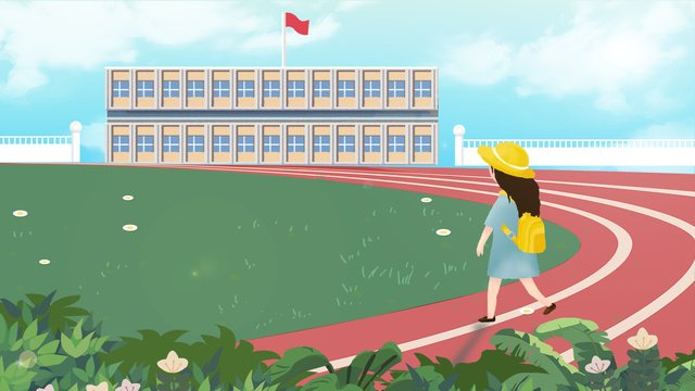 Beautiful and playground september school season illustration, Beautiful, Fresh, Playground illustration image