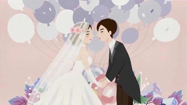 美しい新鮮な結婚式の季節結婚式の結婚式のイラスト イラスト素材