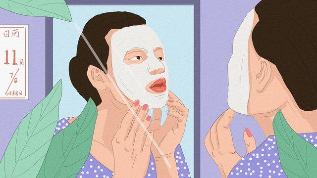 world beauty day mask minh họa gốc Hình minh họa Hình minh họa
