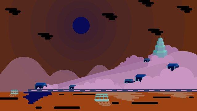 북경 명소 삽화 소재 삽화 이미지