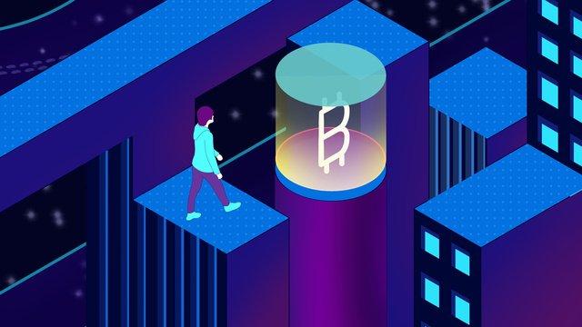 bitcoin technology sense 25d ручная роспись плаката обои Ресурсы иллюстрации Иллюстрация изображения
