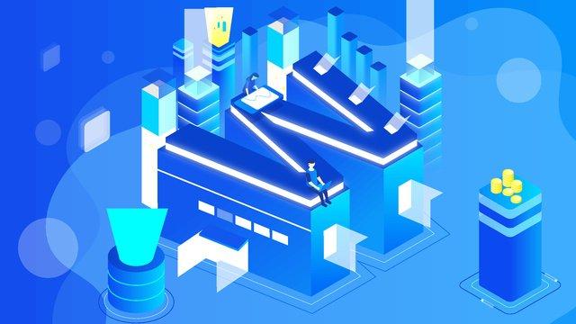 blockchain artificial intelligence ai high tech 2 5d letter w illustration llustration image