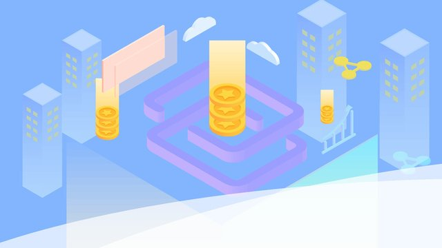 blockchain bitcoin financial technology 25d 아이소 메트릭 축 보정 그림 삽화 소재