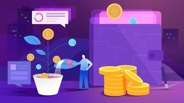 Финансовая концепция блокчейн Ресурсы иллюстрации Иллюстрация изображения