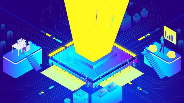 blockchain การเงิน bitcoin high tech chip 25d gradient ภาพ