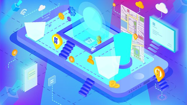 blue gradient artificial intelligence unmanned mobile phone illustration ai llustration image illustration image