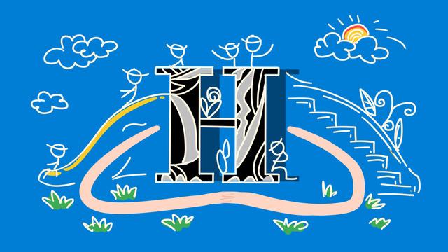 ब्लू स्ट्रोक वाले अक्षर blue हल्के नीले एच एंथ्रोपोमोर्फिक चित्रण चित्रण छवि
