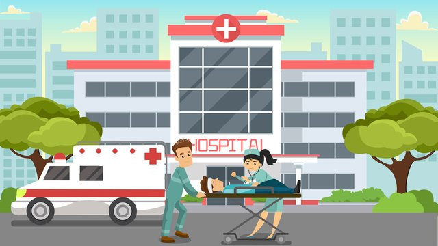 medical rescue scene doctor first aid flat wind illustration llustration image illustration image
