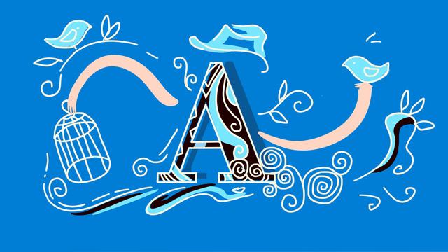 ब्लू स्ट्रॉक्ड लेटर blue लाइट एंथ्रोपोमोर्फिक इलस्ट्रेशन चित्रण छवि चित्रण छवि