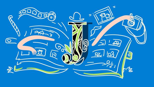 青いストローク文字邂□水色の文字j擬人化図 イラスト素材 イラスト画像