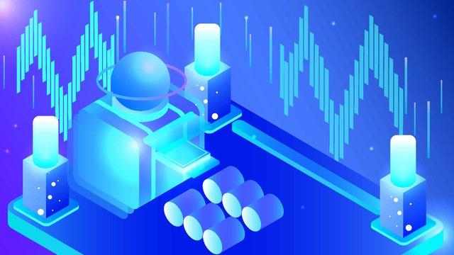 blue 25d semi stereo technology future virtual concept vector illustration llustration image illustration image
