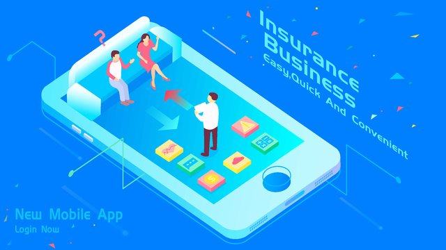 2 5d business office insurance financial service app application llustration image