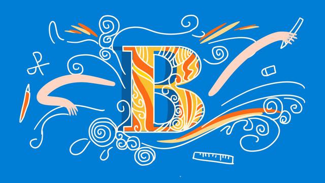ब्लू स्ट्रोक पत्र blue हल्के नीले अक्षर बी एन्थ्रोपोमोर्फिक चित्रण चित्रण छवि चित्रण छवि