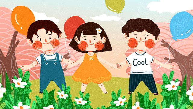 international childrens day kids play cute simple flat original illustration llustration image illustration image
