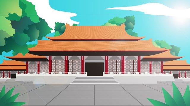 ancient architecture illustration llustration image