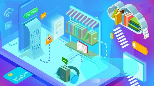 business blue gradient artificial intelligence e book mobile phone illustration ai llustration image illustration image