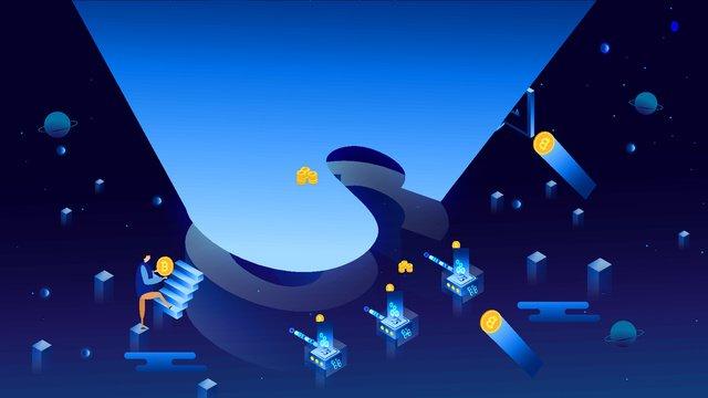 비즈니스 오피스 금융 기술 bitcoin original 2 5d 일러스트 레이션 삽화 소재 삽화 이미지
