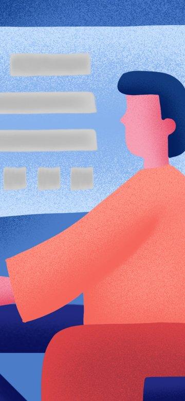 営業所交渉交換グラデーションコントラストカラーファッションイラスト イラスト素材