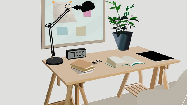 business office scene 5 llustration image