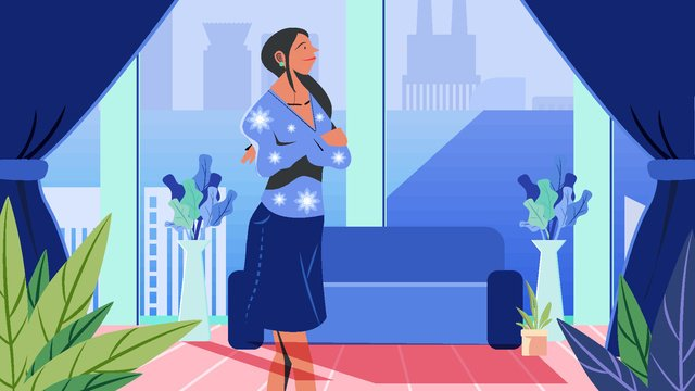 Vector flat cartoon girl office business white collar illustration, Business, Office, Female illustration image