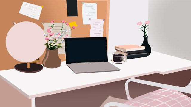 business office scene 2 llustration image