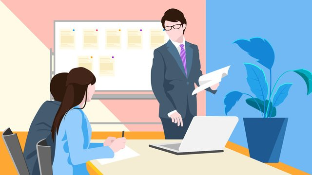 Business meeting office vector illustration, Business, Office, Meeting illustration image