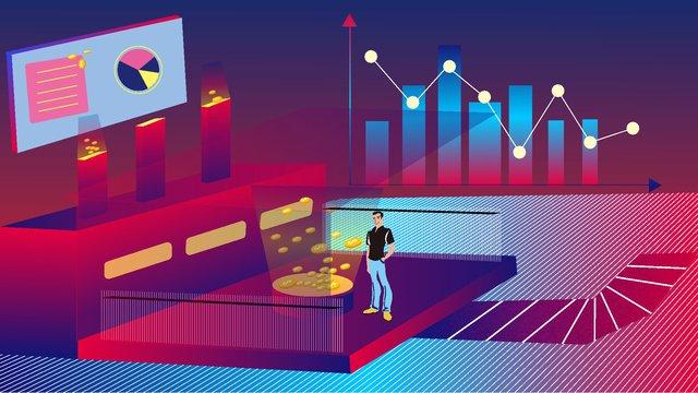 business Office office 2 5D, Financial, Technology, Business Illustration illustration image