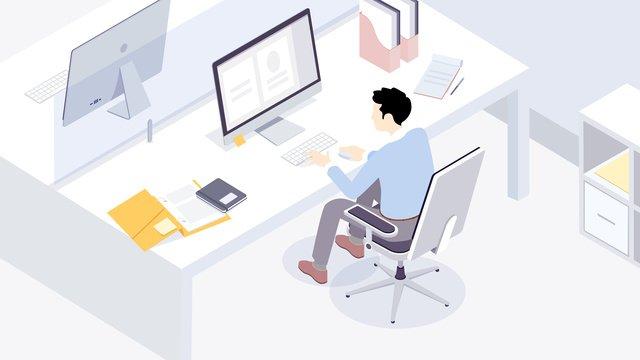 Вектор плоский бизнес офис Ресурсы иллюстрации Иллюстрация изображения