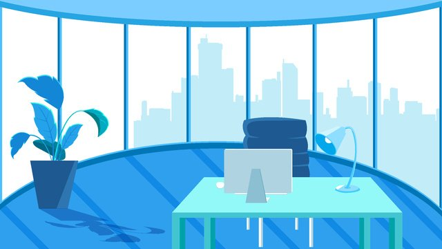 평면 비즈니스 사무실 장면 삽화 소재 삽화 이미지
