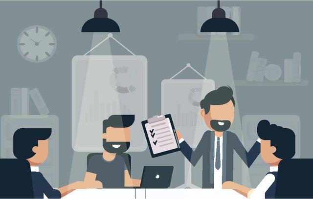 Original business office company meeting illustration, Business, Office, Overtime illustration image