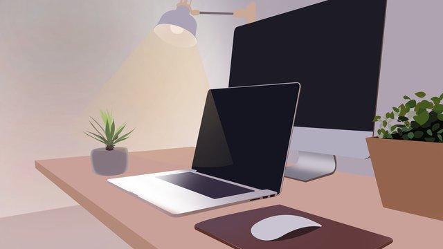 business office scene 3 llustration image illustration image