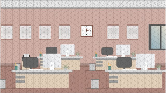 simple business office scene llustration image
