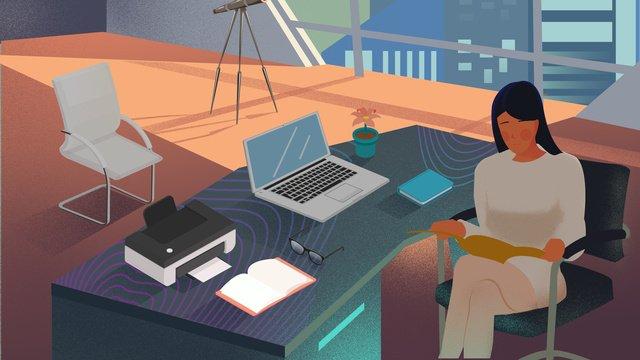 kinh doanh văn phòng cuộc sống bằng phẳng kết cấu minh họa Hình minh họa