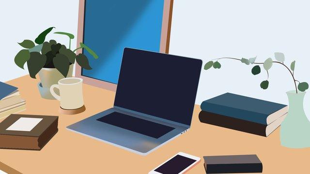 商務工作場景1 插畫素材 插畫圖片