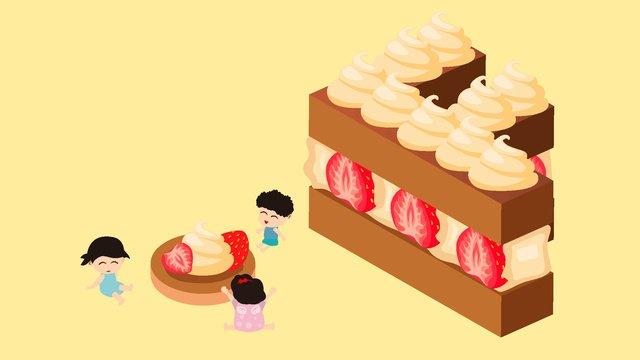 25d bánh dâu tây sandwich letter f illustratorBánh  Thư  Dâu PNG Và Vector illustration image