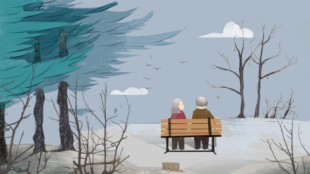 caring for the elderly has a kind of love called companionship llustration image illustration image