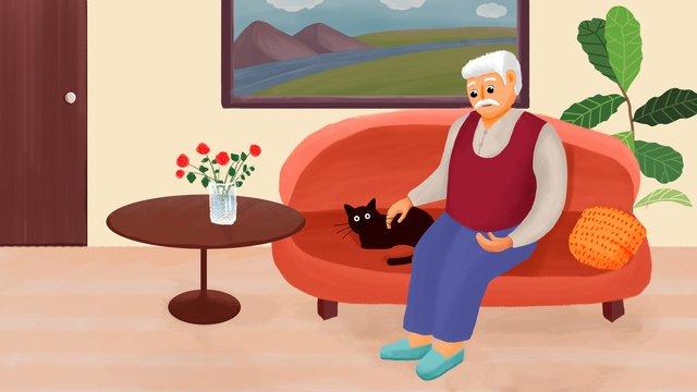 高齢者の世話 イラスト素材 イラスト画像