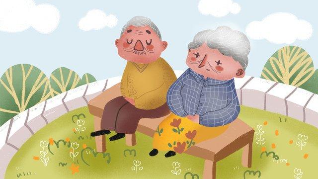 高齢者のお手入れ高齢者のキュートで温かいビジネスイラスト イラスト素材 イラスト画像