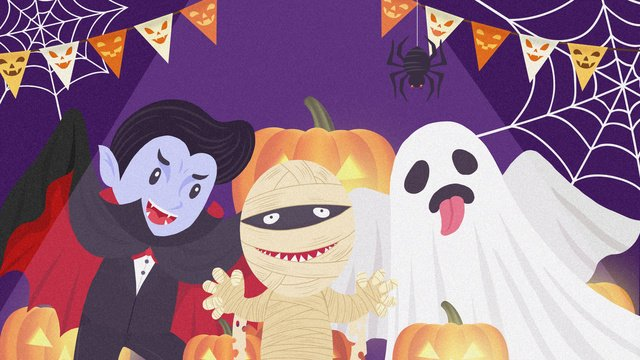 cartoon halloween carnival night party illustration llustration image illustration image