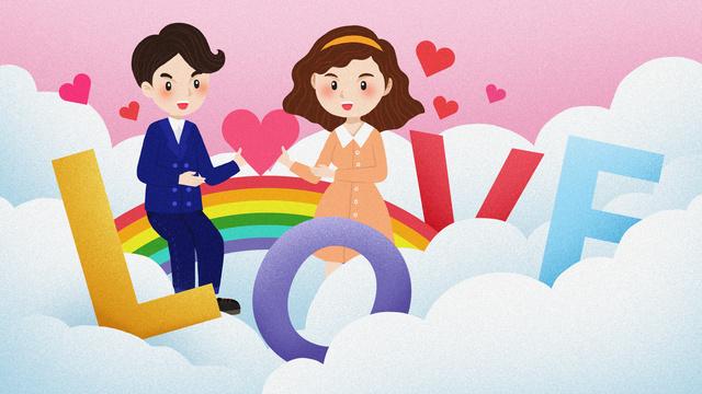 만화 아름다운 편지 계기 커플 love 일러스트레이션 삽화 소재 삽화 이미지