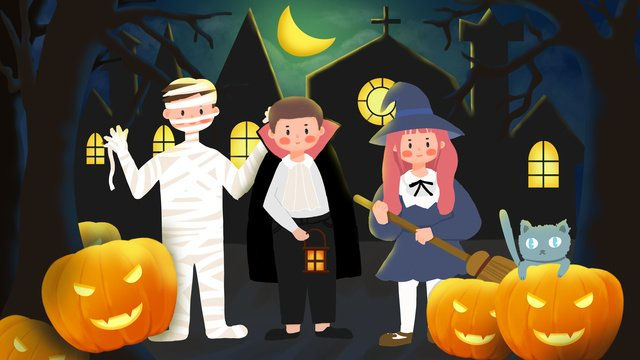 celebrate halloween carnival night llustration image illustration image