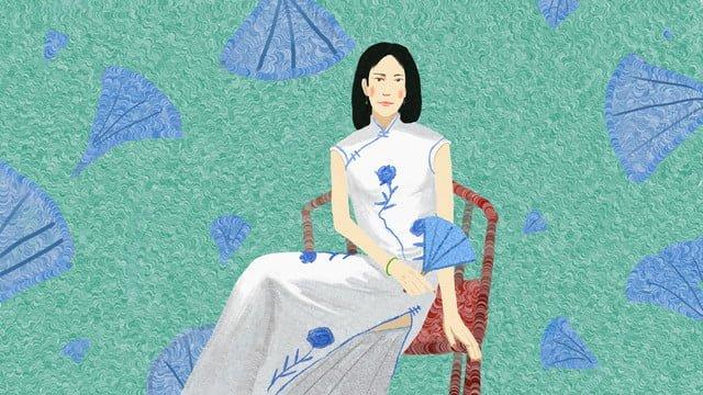 cheongsam woman original illustration llustration image illustration image