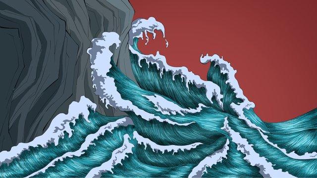 中国の慣用句の乱流 イラスト素材 イラスト画像