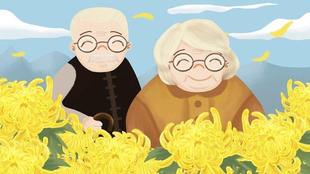 美しい崇陽祭りお年寄り イラスト素材 イラスト画像
