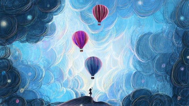 オリジナルコイルヒーリングシステム図熱気球 イラスト素材 イラスト画像