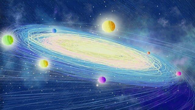 हाथ से पेंट की गई कॉइल इंप्रेशन तारों वाली आकाशगंगा अंतरिक्ष अन्वेषण इलाज चित्रण पोस्टर चित्रण छवि