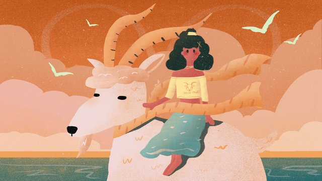 Twelve constellation aries illustration, Constellation, Aries, Sheep illustration image