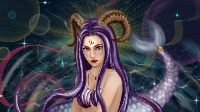constellation deep sea horns duyung ekor impian gelembung air gelombang capricorn dewi imej keterlaluan
