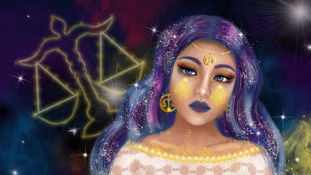 constellation series of cosmic stars the goddess libra llustration image illustration image